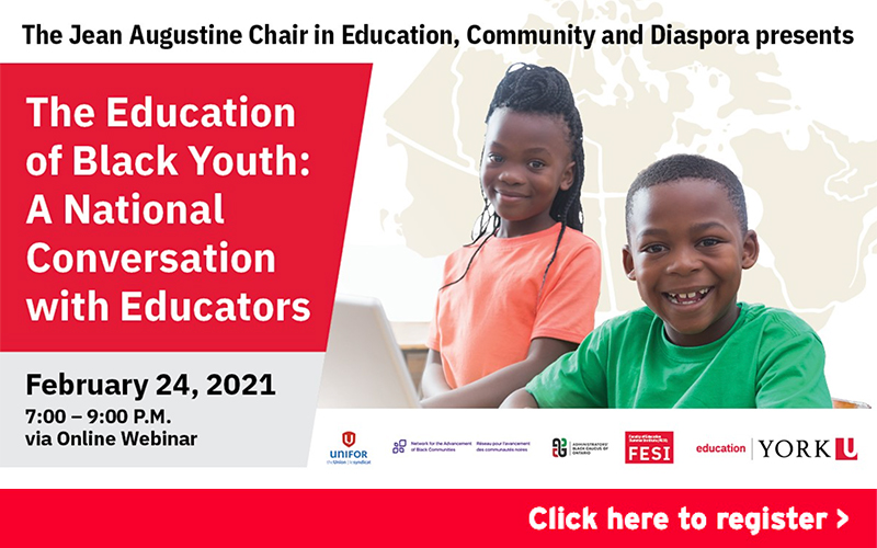FESI Webinar 4 - Jean Augustine Chair in Education